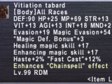 Vitiation Tabard