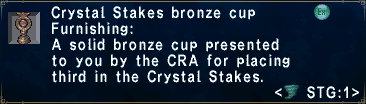Crystal Stakes Bronze Cup