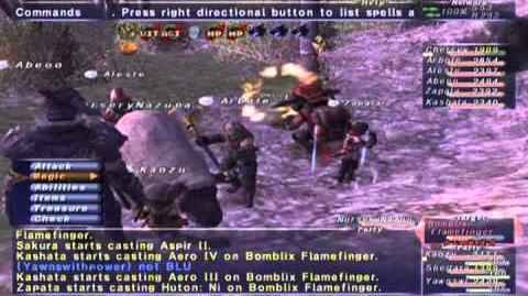 FFXI_NM_Saga_356_Bomblix_Flamefinger_NM_Full_Battle