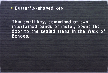Butterfly-shaped key