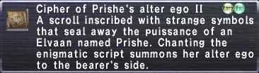 Cipher: Prishe II