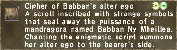 Cipher: Babban