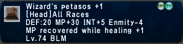 Wizard's Petasos +1