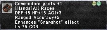 Commodore Gants +1