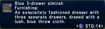 Blue 3-Drawer Almirah