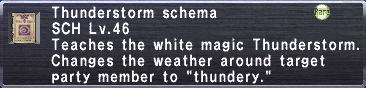 Thunderstorm Schema