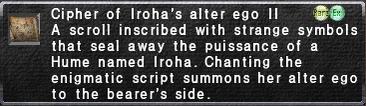Cipher: Iroha II