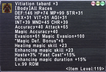 Vitiation Tabard +3