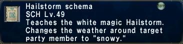Hailstorm Schema