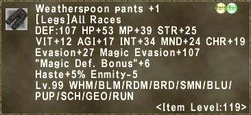 Weatherspoon Pants +1