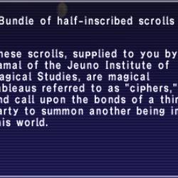 Bundle of half-inscribed scrolls