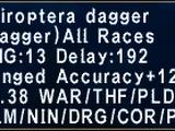 Chiroptera Dagger