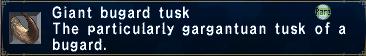 Giant Bugard Tusk
