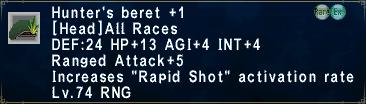 Hunter's Beret +1