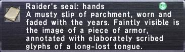 Raider's Seal: Hands
