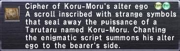 Cipher: Koru-Moru