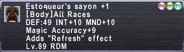 Estoqueur's Sayon +1