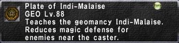 Plate of Indi-Malaise
