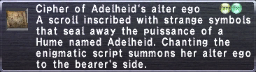 Cipher: Adelheid