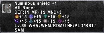 Numinous Shield +1