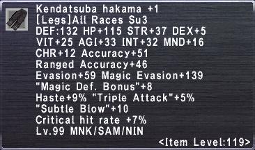 Kendatsuba Hakama +1