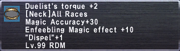 Duelist's Torque +2