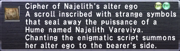 Cipher: Najelith