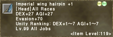 Imperial Wing Hairpin +1