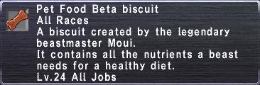 Pet Food Beta