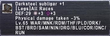 Darksteel Subligar +1