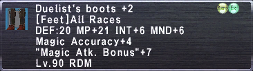 Duelist's Boots +2