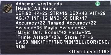 Adhemar Wristbands