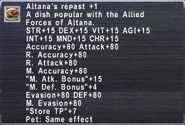 Altana's Repast +1