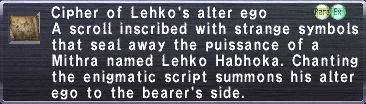 Cipher: Lehko
