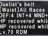 Duelist's Belt