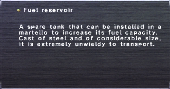 Fuel reservoir