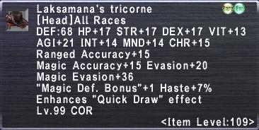 Laksamana's Tricorne