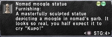 Nomad Moogle Statue