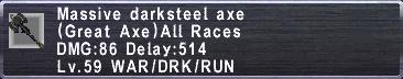 Massive Darksteel Axe