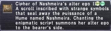 Cipher: Nashmeira II