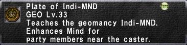 Plate of Indi-MND