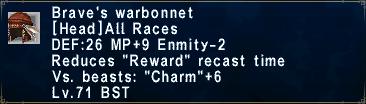 Brave's Warbonnet