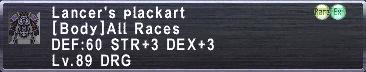 Lancer's Plackart