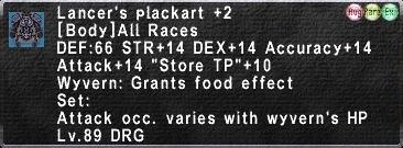 Lancer's Plackart +2
