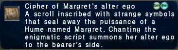 Cipher: Margret