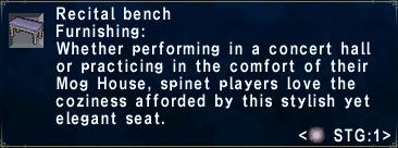 Recital Bench