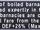 Boiled Barnacles +1