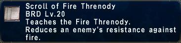 Fire Threnody
