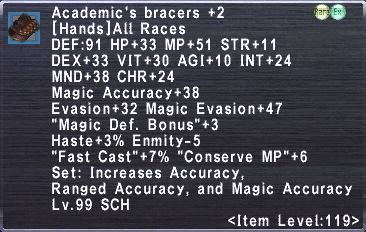 Academic's Bracers +2
