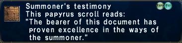 Summoner's Testimony